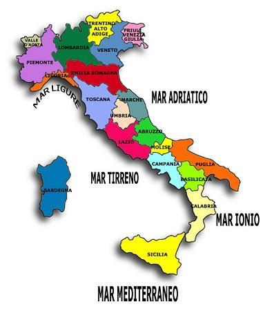 Административное деление Италии
