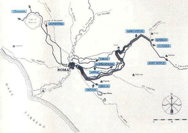 Самый первый водопровод Aqua Appia напитывался водой из родников, расположенных между 7 и 8 милях к востоку от города...