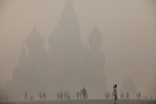 """""""Красная площадь"""" в тумане."""