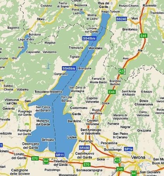 Описание озера Гарда. Вся туристическая информация. Отели, достопримечательности озера гарда, интересные места рядом, особенности озера Гарда.