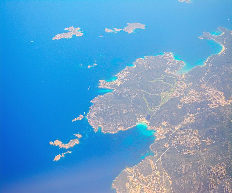 Вид на Ольбию с самолета