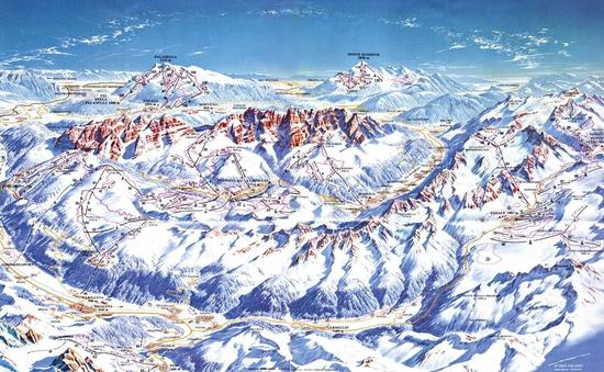 Карта курорта Кортина-д'Ампеццо