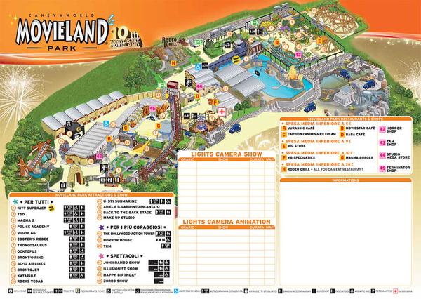 Карта парка  Мувиленд, щелкните, чтобы увеличить