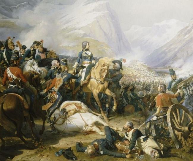 Наполеон в битве при Риволи