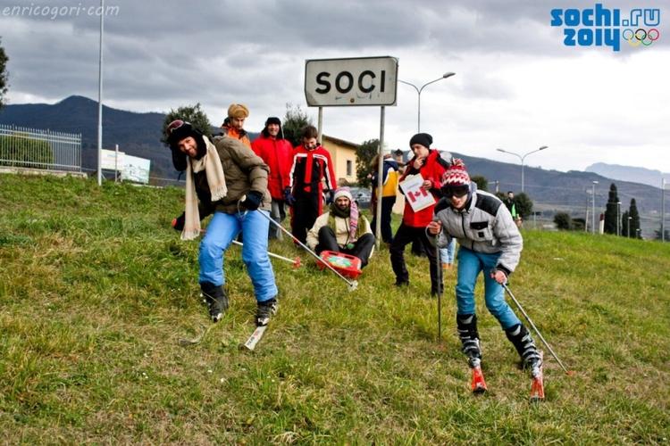 Зимние олимпийские игры 2014 на самом деле проходят в Сочи в Тоскане