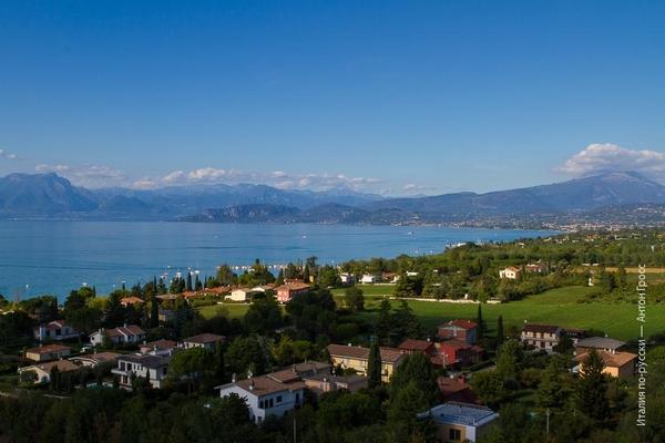 Вид на озеро Гарда с Flying Island
