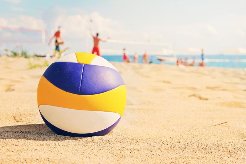 Волейбол на одном из пляжей Римини