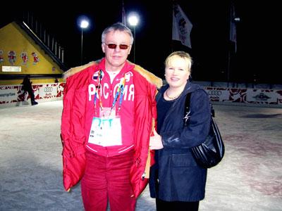 Valeria с Вячеславом Фетисовым