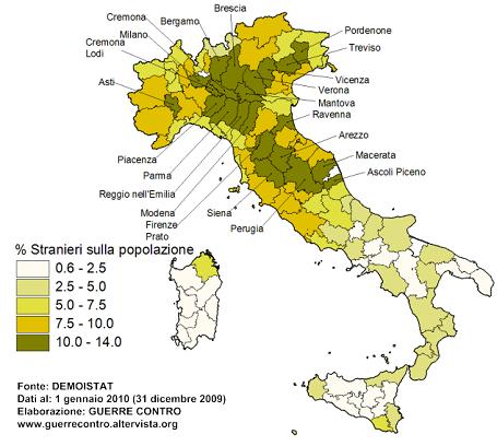 Иммигранты в Италии