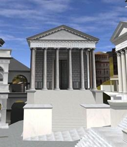 Компьютерная реставрация храма Сатурна