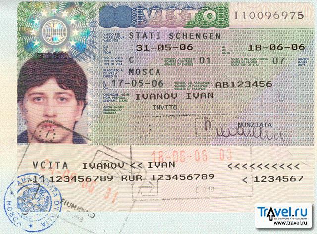 бланк анкеты для получения итальянской визы
